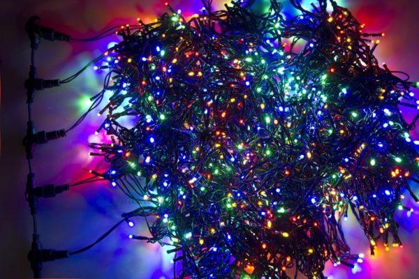 """Гирлянда """"LED ClipLight"""" 24V, 5 нитей по 20 метров, цвет диодов Мульти 3"""