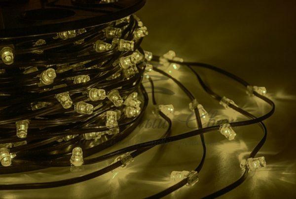 "Гирлянда ""LED Clip Light"" 12V шаг 150 мм, цвет диодов Тепло-Белый, Flashing (Белый) 2"