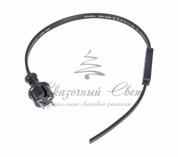 Набор для подключения двухжильного Belt-light (шнур питания 1,5м с вилкой, коннектор) 3