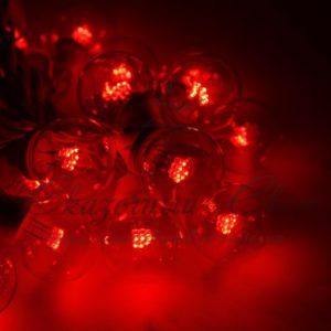 Гирлянда LED Galaxy Bulb String 10м, белый КАУЧУК, 30 ламп*6 LED КРАСНЫЕ, влагостойкая IP54