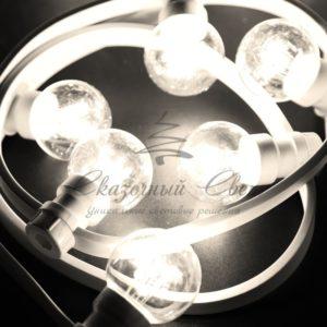 Гирлянда LED Galaxy Bulb String 10м, белый КАУЧУК, 30 ламп*6 LED ТЕПЛО-БЕЛЫЕ, влагостойкая IP65