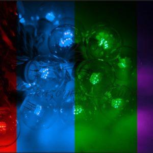 Гирлянда LED Galaxy Bulb String 10м, черный КАУЧУК, 30 ламп*6 LED МУЛЬТИ, влагостойкая IP65