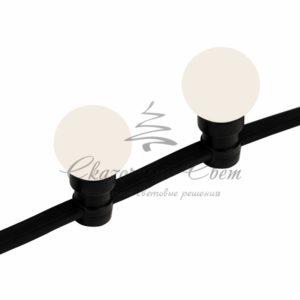 Готовый набор: «Евро Belt Light» 2 жилы шаг 40 см, Теплые Белые LED лампы (6 LED)