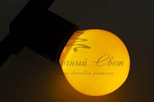 Лампа накаливания e27 10 Вт желтая колба 3