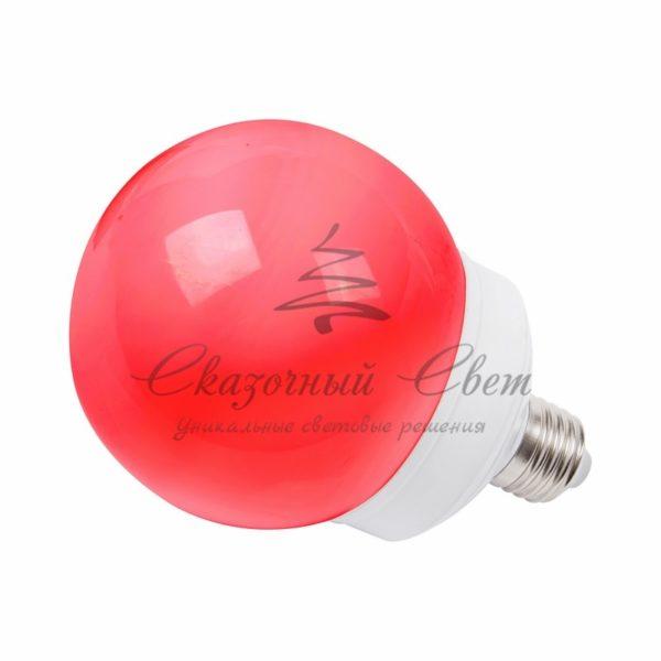 Лампа шар e27 12 LED  Ø100мм красная 3
