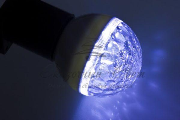 Лампа шар e27 9 LED  Ø50мм синяя 1
