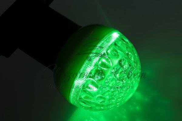 Лампа шар e27 9 LED  Ø50мм зеленая 1