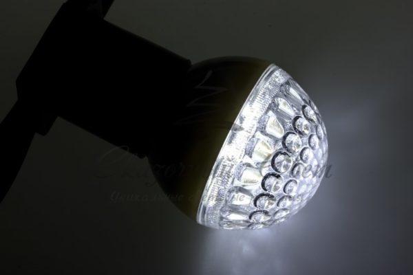 Лампа шар e27 9 LED  Ø50мм белая 1
