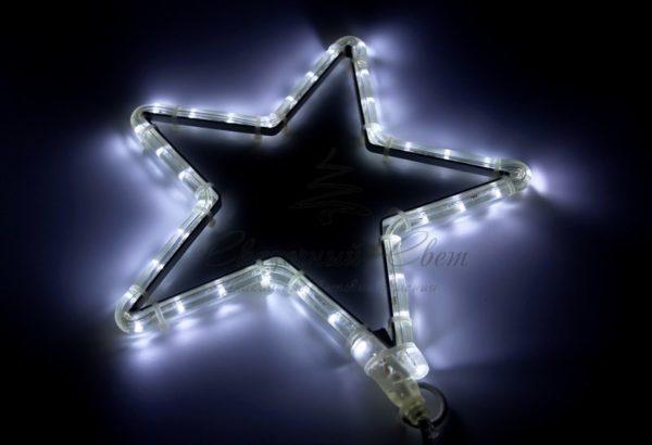 "Фигура световая ""Звездочка LED"" цвет белый, размер 30*28 см  NEON-NIGHT 2"