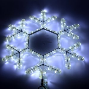 Фигура «Снежинка» цвет белый, размер  45*38 см  NEON-NIGHT