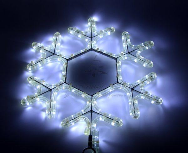 "Фигура ""Снежинка"" цвет белый, размер  45*38 см  NEON-NIGHT"