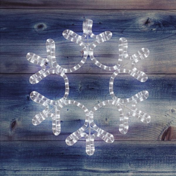 "Фигура ""Снежинка"" цвет ТЕПЛЫЙ БЕЛЫЙ, размер  45*38 см  NEON-NIGHT 2"