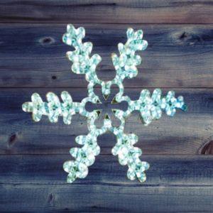 Фигура световая «Снежинка резная» цвет белый, размер  45*38 см  NEON-NIGHT