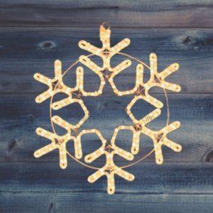 Фигура «Снежинка» цвет ТЕПЛЫЙ БЕЛЫЙ, размер 55*55 см  NEON-NIGHT