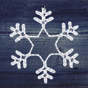 Фигура световая «Снежинка» цвет белый, без контр. размер 55*55см  NEON-NIGHT