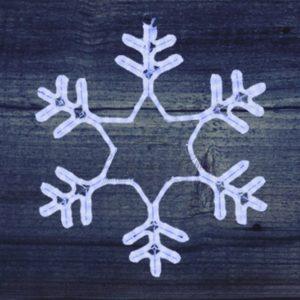 Фигура «Снежинка» LED Светодиодная, без контр. размер 55*55см,   «СИНЯЯ»  NEON-NIGHT