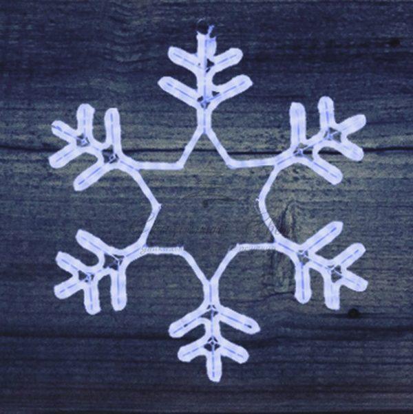 "Фигура ""Снежинка"" LED Светодиодная, без контр. размер 55*55см,   ""СИНЯЯ""  NEON-NIGHT 2"