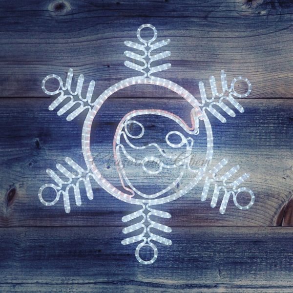 "Фигура ""Снежинка с Дедом Морозом"" размер 107*95см, 14м дюралайт  NEON-NIGHT 3"