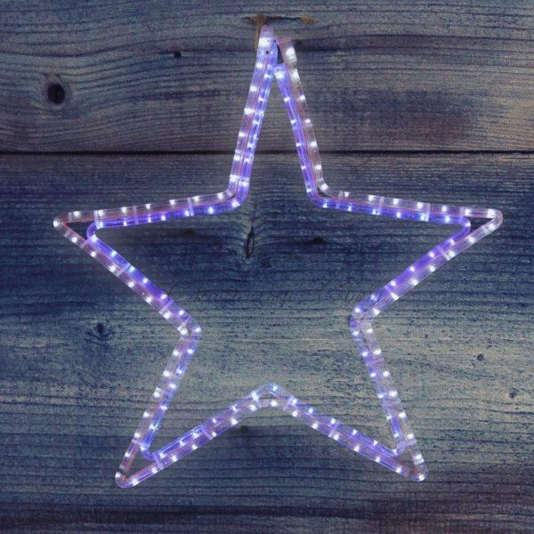 "Фигура световая ""Звезда"" цвет белый/синий, размер 56 х 60 см  NEON-NIGHT 2"