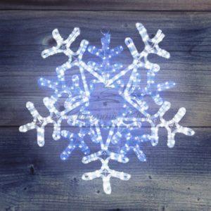 Фигура световая «Снежинка» цвет белая/синяя, размер 60*60 см, с контролером  NEON-NIGHT