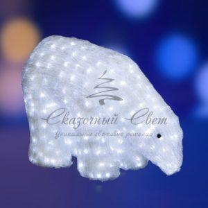 Акриловая светодиодная фигура «Белый медведь» 40см, 752 светодиода, IP 44, понижающий трансформатор в комплекте, NEON-NIGHT