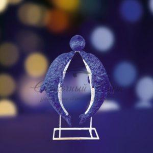 Акриловая светодиодная фигура «Дельфины в тандеме» 150х130см, 2000 светодиодов, IP 44, понижающий трансформатор в комплекте, NEON-NIGHT