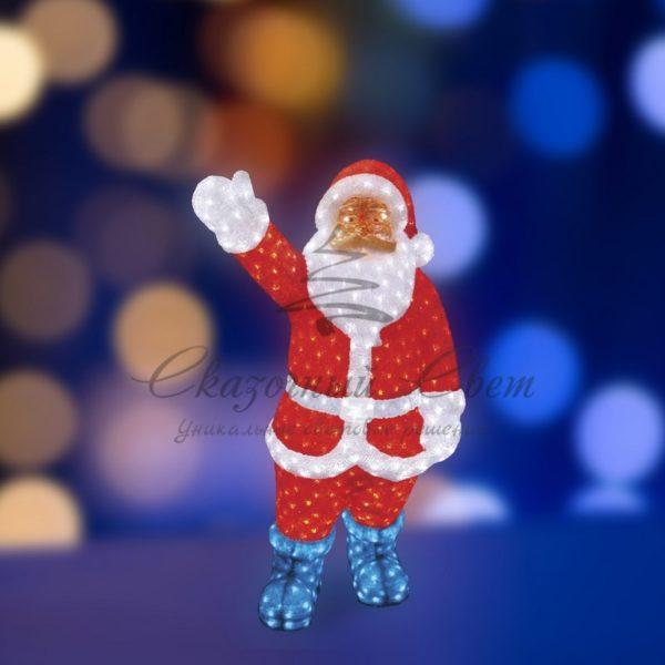 """Акриловая светодиодная фигура """"Санта Клаус"""" 120см, IP 44, понижающий трансформатор в комплекте, NEON-NIGHT 3"""