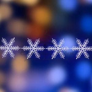 Акриловая светодиодная фигура на каракасе «4 снежинки» Ø 80 см, 458 светодиодов, IP44 понижающий трансформатор в комплекте, NEON-NIGHT