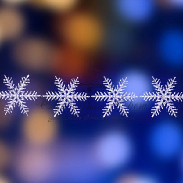 """Акриловая светодиодная фигура на каракасе """"4 снежинки"""" Ø 80 см, 458 светодиодов, IP44 понижающий трансформатор в комплекте, NEON-NIGHT 3"""