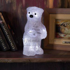 Акриловая светодиодная фигура «Медвежонок» 12х22х13 см, 4,5 В, 3 батарейки AAA (не входят в комплект), 10 светодиодов, NEON-NIGHT