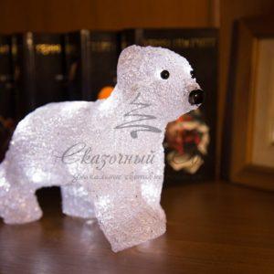 Акриловая светодиодная фигура «Медвежонок» 24х11х18 см, 4,5 В, 3 батарейки AA (не входят в комплект), 16 светодиодов, NEON-NIGHT