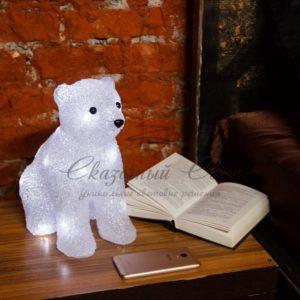 Акриловая светодиодная фигура «Медвежонок» 17х24х29 см, 4,5 В, 3 батарейки AA (не входят в комплект), 20 светодиодов, NEON-NIGHT