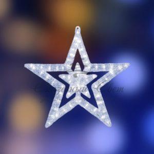 Акриловая светодиодная фигура «Звезда» 62 см, 62х59х2,5см, 63 светодиода, IP44 понижающий трансформатор в комплекте, NEON-NIGHT