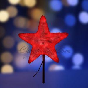 Акриловая светодиодная фигура «Звезда» 30см, 45 светодиодов, красная, NEON-NIGHT