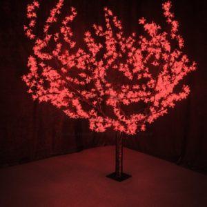 Светодиодное дерево «Сакура», высота 1,5м, диаметр кроны 1,8м, красные светодиоды, IP 54, понижающий трансформатор в комплекте, NEON-NIGHT