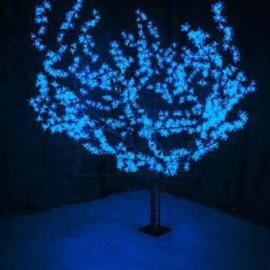 Светодиодное дерево «Сакура», высота 1,5м, диаметр кроны 1,8м, синие светодиоды, IP 54, понижающий трансформатор в комплекте, NEON-NIGHT