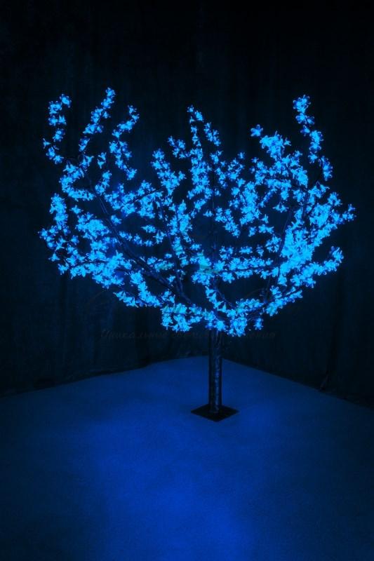 """Светодиодное дерево """"Сакура"""", высота 1,5м, диаметр кроны 1,8м, синие светодиоды, IP 54, понижающий трансформатор в комплекте, NEON-NIGHT"""