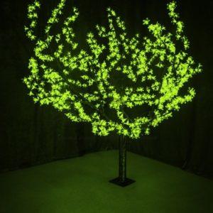 """Светодиодное дерево """"Сакура"""", высота 1,5м, диаметр кроны 1,8м, зеленые светодиоды, IP 54, понижающий трансформатор в комплекте, NEON-NIGHT"""