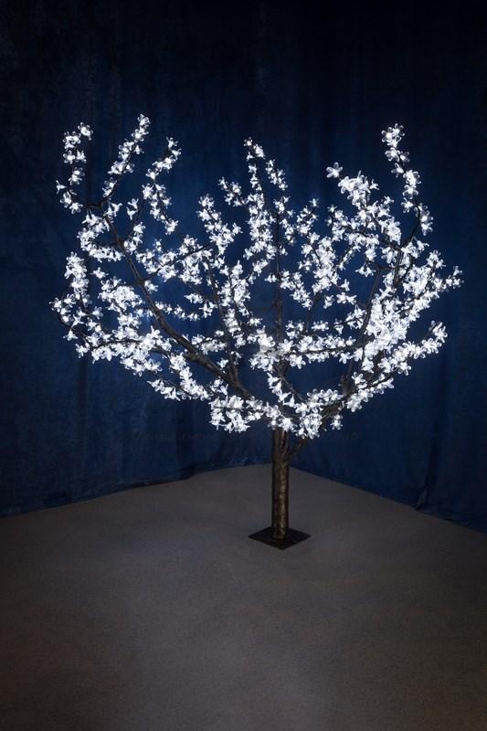 """Светодиодное дерево """"Сакура"""", высота 1,5м, диаметр кроны 1,8м, белые светодиоды, IP 54, понижающий трансформатор в комплекте, NEON-NIGHT 1"""