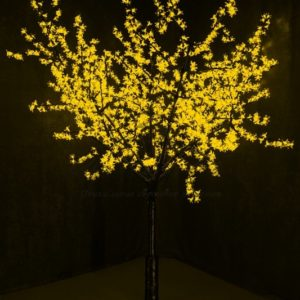 Светодиодное дерево «Сакура», высота 2,4м, диаметр кроны 2,0м, желтые светодиоды, IP 54, понижающий трансформатор в комплекте, NEON-NIGHT