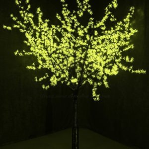 Светодиодное дерево «Сакура», высота 2,4м, диаметр кроны 2,0м, зеленые светодиоды, IP 54, понижающий трансформатор в комплекте, NEON-NIGHT