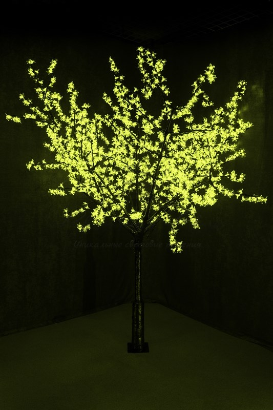 """Светодиодное дерево """"Сакура"""", высота 2,4м, диаметр кроны 2,0м, зеленые светодиоды, IP 54, понижающий трансформатор в комплекте, NEON-NIGHT 1"""