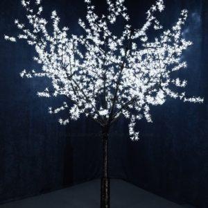 Светодиодное дерево «Сакура», выстота 2,4м, диметр кроны 2,0м, белые светодиоды, IP 54, понижающий трансформатор в комплекте, NEON-NIGHT