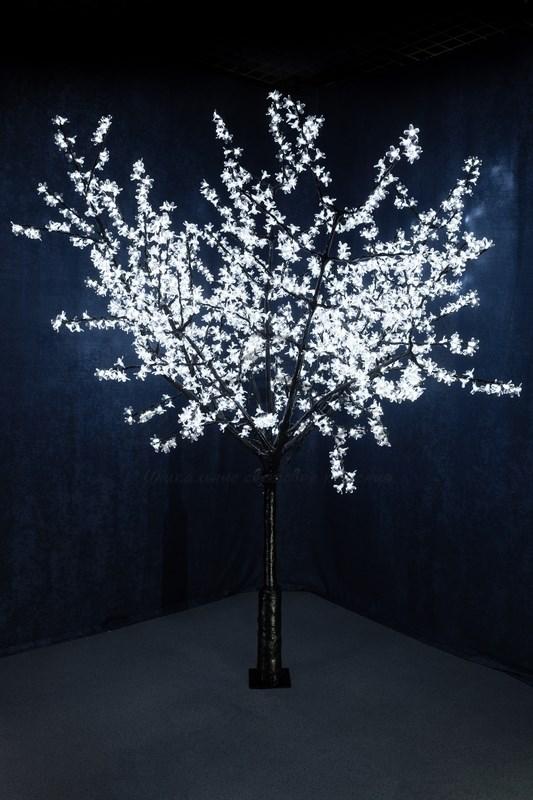 """Светодиодное дерево """"Сакура"""", выстота 2,4м, диметр кроны 2,0м, белые светодиоды, IP 54, понижающий трансформатор в комплекте, NEON-NIGHT"""