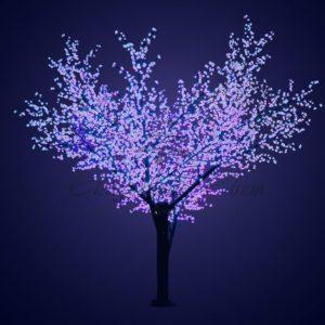 Светодиодное дерево «Сакура», высота 3,6м, диаметр кроны 3,0, синие светодиоды, IP 64, понижающий трансформатор в комплекте, NEON-NIGHT
