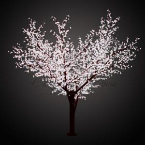Светодиодное дерево «Сакура», высота 3,6м, диаметр кроны 3,0м, белые светодиоды, IP 64, понижающий трансформатор в комплекте, NEON-NIGHT