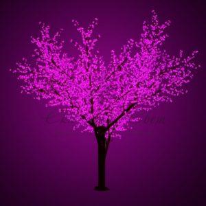 Светодиодное дерево «Сакура», высота 3,6м, диаметр кроны 3,0м, фиолетовые светодиоды, IP 64, понижающий трансформатор в комплекте, NEON-NIGHT