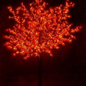 Светодиодное дерево «Сакура», высота 3,6м, диаметр кроны3,0м, красные светодиоды, IP 54, понижающий трансформатор в комплекте, NEON-NIGHT