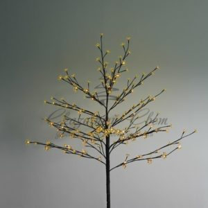 Дерево комнатное «Сакура», коричневый цвет ствола и веток, высота 1.2 метра, 80 светодиодов желтого цвета, трансформатор IP44  NEON-NIGHT