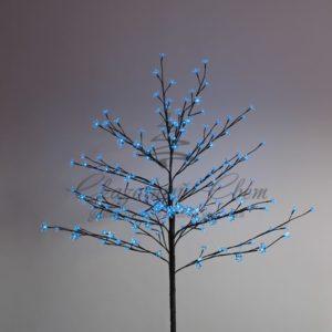 Дерево комнатное «Сакура», коричневый цвет ствола и веток, высота 1.2 метра, 80 светодиодов синего цвета, трансформатор IP44  NEON-NIGHT
